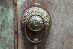 Bronze door handle. An old type bronze door handle Stock Image