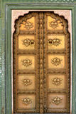 Bronze door in india Royalty Free Stock Photography