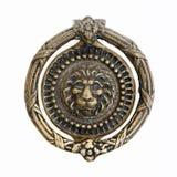 Bronze door knocker. Massive lion motif antique bronze door knocker Royalty Free Stock Images