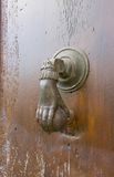Bronze door knocker. Lyon, Franc Stock Images