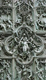 Bronze door of Milan Cathedral, Italy Royalty Free Stock Photo
