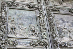 Bronze door, Pisa Cathedral Royalty Free Stock Images