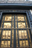 Bronze door of St. John Baptistery in Florence, Italy Royalty Free Stock Photo
