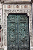 Bronze Door Symbols Duomo Cathedral Florence Italy Stock Photography
