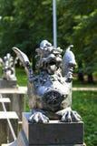 Bronze dragon on the bridge Stock Image