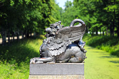 Bronze dragon on the bridge Stock Photos