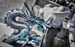 Bronze dragon fountain Royalty Free Stock Photo