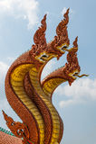 Bronze dragon sculpture Royalty Free Stock Photos