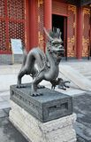 Bronze Dragon Statue in the Imperial Garden of the Summer Palace Stock Photos