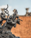 Bronze dragon or unicorn at the Temple of Literature in Hanoi, Vietnam Royalty Free Stock Images