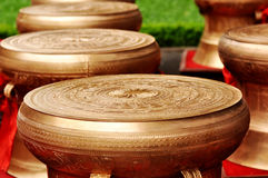 Bronze drums Stock Images