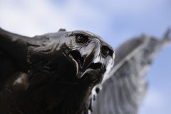 Bronze Eagle in Flight Stock Images