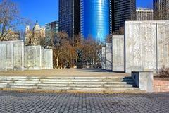 Bronze eagle in memory World War 2, Manhattan Royalty Free Stock Photo