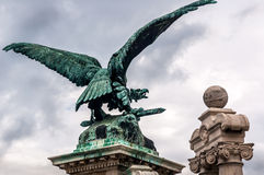 Bronze eagle statue at Buda Castle Royalty Free Stock Images