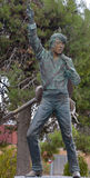 Bronze of Elvis Stock Image