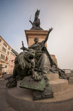 The  bronze equestrian monument in Venice Stock Photos