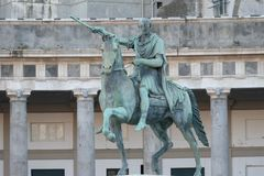 Free Bronze Equestrian Statue Of Ferdinando I Of Borbone, M King Of Two Sicilies Royalty Free Stock Image - 161676976
