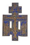 Bronze et crucifix d'émail Images libres de droits