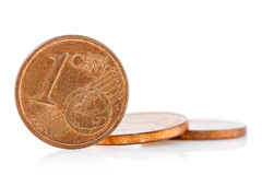Bronze Euro Cent coins Stock Photo