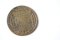 bronze evigt kalendermynt för 1767 back Arkivfoto