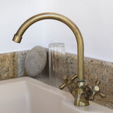 Bronze faucet Royalty Free Stock Images