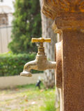 Bronze faucet Royalty Free Stock Photography