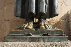 Bronze feet Royalty Free Stock Images