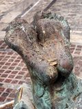 Bronze Feet, Statue, Athens Royalty Free Stock Photography