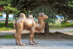 Bronze figure of a camel Stock Photography