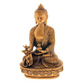 Bronze figurine. On a white background Royalty Free Stock Image
