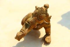 Bronze figurine of an elephant. Souvenir. India Royalty Free Stock Photos