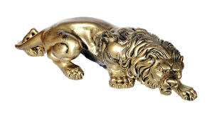 Bronze figurine of a lion Royalty Free Stock Photos