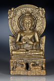 Bronze figurine of sitting Buddha Royalty Free Stock Photography