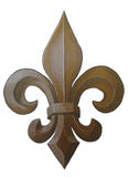 Bronze Fleur de Lis Painting royalty free stock image