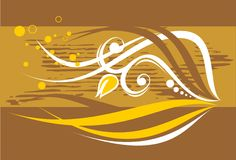 Free Bronze Floral Background Royalty Free Stock Photos - 3373528
