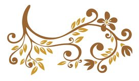 Bronze floral pattern Stock Photography