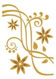 Bronze flower pattern Royalty Free Stock Photography