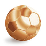 Bronze football ball Stock Image