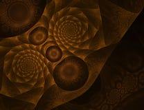 Bronze fractal illustration. Bronze grunge fractal design over black royalty free stock photos