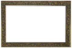 Bronze Frame. Ancient bronze frame isolated over white background Stock Photo