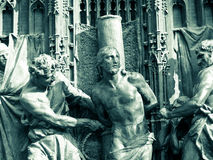 Bronze gate of cathedral of Milan Stock Photography