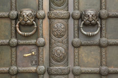 Bronze gate of the Russian Memorial Church in Leipzig, Saxony, G Stock Image