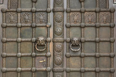 Bronze gate of the Russian Memorial Church in Leipzig, Saxony, G Stock Photo