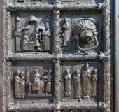 Bronze gates of St. Sophia Cathedral in Veliky Novgorod Stock Photography