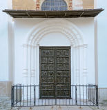 Bronze gates of St. Sophia Cathedral Royalty Free Stock Photos