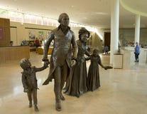 bronze george skulptur washington Fotografering för Bildbyråer