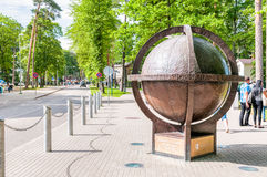 Bronze Globe of Jurmala, Latvia Stock Photos