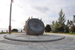 Bronze Globe of Tanjung Simpang Mengayau, Sabah, Malaysia Stock Photo