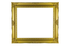Bronze and Gold Frame vintage isolated on white background. Royalty Free Stock Photography