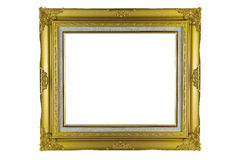 Bronze and Gold Frame vintage isolated on white background. Royalty Free Stock Photo